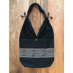 Black Thai Cotton Shoulder Bag
